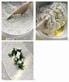 Making Piadina (Italian filled white bread)