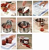 Erdbeermarmelade zubereiten