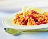 Risotto al pomodoro e cipolle (Risotto with tomatoes & onions)