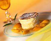 Vanilla quark souffle with kumquats