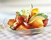 Gemüse aus dem Backofen mit karamellisierten Zwiebeln