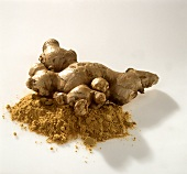 Ginger root and powdered ginger