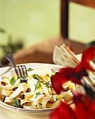 Pasta alla marsalese (Ribbon pasta with Marsala & raisins)