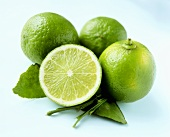 Whole limes and lime halves