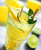 Melon drink Cool Melon with ginger, lime and lemon balm