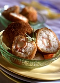 Supplì alla romana (Rice dumplings with mozzarella stuffing, Italy)