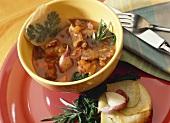 Lamb stew with potato pie