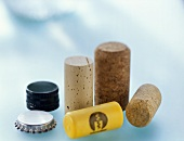 Various corks and bottle fasteners
