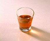 A small glass of rum