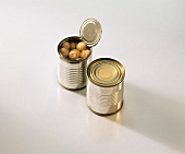 Mushrooms in two tins