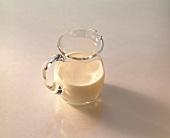 Soya milk in glass jug