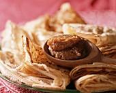 Pancakes with caramel filling