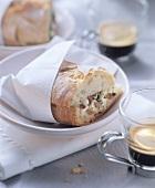 Panini alla napoletana (ham and mozzarella sandwich)