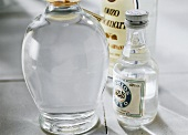 Three different Ouzo bottles