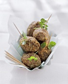 Frikadeller with cumin and parsley