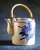 Teapot with Asian painting