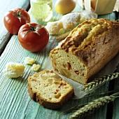 Tomaten-Ingwer-Kuchen mit Zutaten