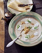 Baden trout soup with cream and chervil