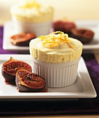 Orange parfait with grilled figs