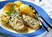 Cod fillet with dill and potatoes