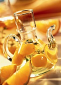 Orange and lemon oil in carafe