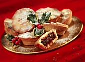 Mince pies: British Christmas tarts with dried fruit
