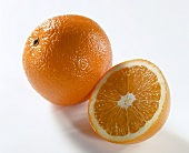 Orange and half an orange