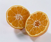 Two mandarin halves