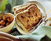 Hazelnut cake with white couverture
