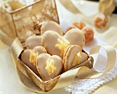 Ginger hearts in a gold box