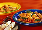 Fagioli all'uccelletto (white beans with sage and tomatoes)