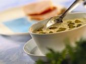 Mustard sauce with gherkins
