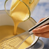 Heating sauce in pan
