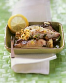 Stuffed cuttlefish with garlic and lemon