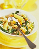 Arab chick-pea stew with chard and lemon