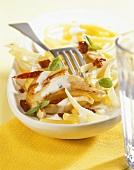 Maccheroni con il pollo (Macaroni with chicken & fennel)