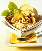 Buckwheat muesli with apple, cinnamon and walnuts
