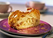 Piece of puff pastry apple strudel