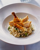 Risotto alla bergamasca (Leek  risotto with poularde breast)