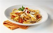 Pasta con le pastinache (Spaghetti with roasted parsnips)