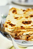 Fish lasagne with fennel and mushrooms