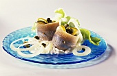 Danish matie fillets with horseradish, onions & capers