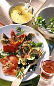 Vegetables with parsley and aioli (garlic mayonnaise)
