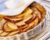 Apple pie in the pie dish