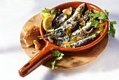 Sarde alla portogese (Sardines with herbs & garlic)