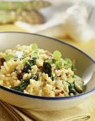 Risotto asparagi e porcini (Asparagus risotto with ceps)