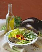 Insalata di verdure (vegetable salad with aubergines & beans)
