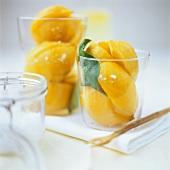 Pickled lemons in jars