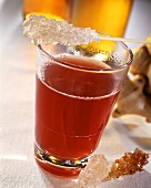 Ginger punch with crystal sugar