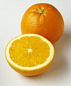 A whole orange and half an orange
